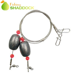 Fishing Egg Sinker Weight Rigs - Ready Rigs with Sinker Swivel Snap Connector