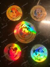 5 Rare 3� + 4� Disney Cruise Line Sticker Ariel Mickey Minnie Mouse Goofy Donald