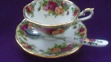 Royal Albert Old Country RosesAvon Tea Cup and Saucer + Spoon to match