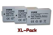 3x Infochip Bateria 800mAh para Canon BP-110