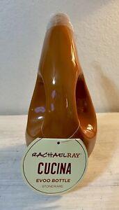 Rachel Ray Olive Oil Dispenser EVOO Bottle Stoneware Cruet 24 oz Orange NWT