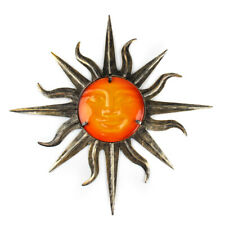 Liffy Wall Art Metal Sun Wall Decoration with Glass for Home and Garden Gift