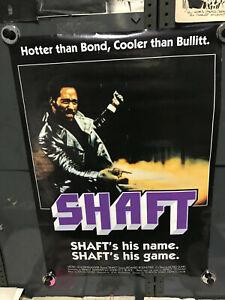 "SHAFT 1971 BRITISH MOVIE POSTER BLACK BORDER 22"" x 34"""
