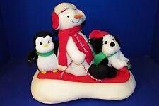 Hallmark Jingle Pals Christmas Snowman 2007 Snow What Fun Sledders Sleigh Ride
