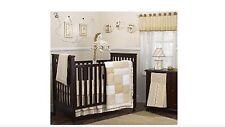 COCALO SNICKERDOODLE 7-Pc Crib Bedding Set Giraffe Safari Tan Taupe Cream HTF
