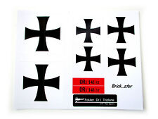 CUSTOM STICKERS for LEGO 10024 The red barron Fokker - Pre-Cut