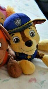Original Nickleodeon Paw Patrol Pup Soft Plush Toy Dogs - Chase VGC