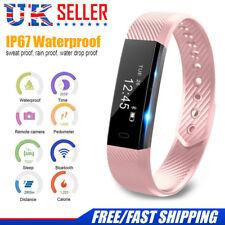Smart Bluetooth Fitness Activity Tracker Watch Pedometer Wristband Fit-bit Style