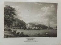 1810 Antique Print; Stoke Edith, between Hereford and Ledbury, Herefordshire
