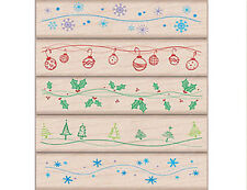"HERO ARTS ""WAVY WINTER BORDERS"" XMAS RUBBER STAMP SET"
