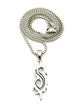 "NEW SLIPKNOT STAINLESS STEEL PENDANT &2mm/24"" BOX CHAIN HIP HOP NECKLACE XP988BX"