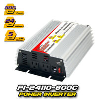 DC to AC Power Inverter Continuous Power: 800 Watts , 24 Volts  (PI-24110-800C )