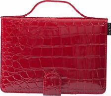 Bagabook Kindle 6in case Carry Handle Cable Pocket Red Croc Girls Gifts