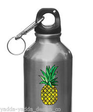 "CLR:WB - Pineapple Stained Glass Vinyl Water Bottle Decal ©YYDC (1.5""w x 2.75""h)"