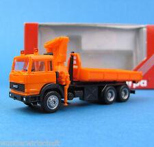 Herpa h0 141758 Iveco 3-alineación abroll-kipper-camión + grúa Orange OVP ho 1:87 Box