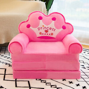 Lengthen Chilcren Cartoon Crown Chairs Sofa Cover Baby Seat Couch Covers