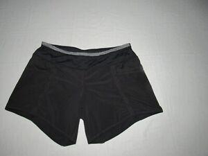 """Lululemon Women's Black Running Athletic Lined Shorts Size 6 Waist 30"""""""