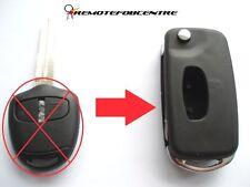 2 Botones Flip Llave Carcasa de actualización para Mitsubishi Outlander Shogun Lancero Remoto Clave