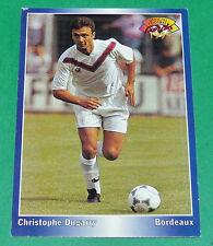 CHRISTOPHE DUGARRY FOOTBALL CARD 1994-1995 PANINI GIRONDINS BORDEAUX LESCURE