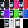 Huawei Ascend Y215 Faceplate Phone Cover SILICON SKIN Case + Screen Protector
