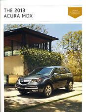2013 Acura MDX 28-page Original DELUXE Car Dealer Sales Brochure Catalog