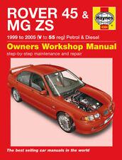 Haynes Manual 4384 Rover 45 MG ZS 1.4 iS 1.4i 1.6 1.8 2.0 2.5 & 2.0 TD 1999-05