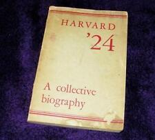 HARVARD '24 A COLLECTIVE BIOGRAPHY - 1939 pb  free s&h