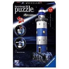 NEU Leuchtturm bei Nacht 3D Puzzle Bauwerk Night Edition LED Ravensburger