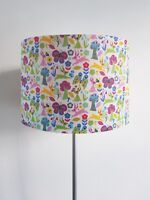 Handmade Scandi Rabbit and Flower Lampshade - Ceiling Light Shade Vintage Home