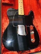 1976 Black Fender Telecaster Maple Neck Ohsc Excellent 1 Owner Guitar