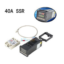 AC100-240V PID Temperature Controller REX-C100+ Max. 40A SSR+K Type Probe Sensor