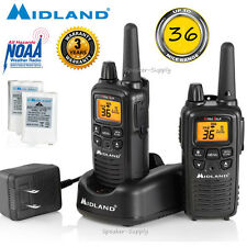 Midland 30 Mile Two Way Walkie Talkie Radio Set NOAA Weather + Charger LXT600VP3