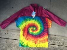 1 wet weather jacket   PLUS    1 rainbow tie dye T-shirt     AUSTRALIAN size XXL