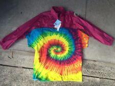 1 wet weather jacket   PLUS    1 rainbow tie dye T-shirt     AUSTRALIAN size XXL