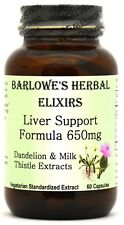 LIVER SUPPORT FORMULA - CLEANSES & DETOXIFIES - Stearate Free, Bottled in Glass!