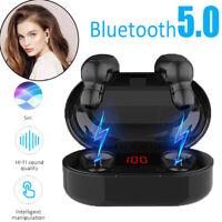 2020 Bluetooth 5.0 Headset TWS Wireless Earphones IPX5 Earbuds Stereo HeadphF0X1