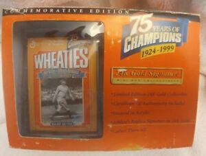 Wheaties Babe Ruth 75 Years Of Champions Gold Signature Mini Box NIB