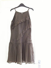 Size 12 ASOS Taupe Dress, Tiered Frills, Really Unusual & Pretty!!