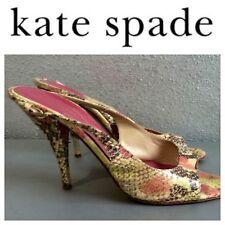 Kate Spade Gold Peep Toe Wedges