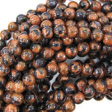 "Snowflake Blue Goldstone Round Beads Gemstone 14"" Strand 4mm 6mm 8mm 10mm 12mm"