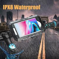 IPX8 SUPPORTO CUSTODIA MANUBRIO BICI BICICLETTA MTB MOTO IMPERMEABILE SMARTPHONE