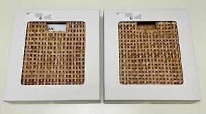 """Ikea HADERITTAN Basket eket/kallax, rattan 11 3/4x11 3/4x11 3/4 """" (2 Pack) - NEW"""