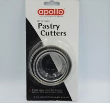 NEW SET OF 3 STAINLESS STEEL CRINKLE PASTRY CUTTERS APOLLO 9871