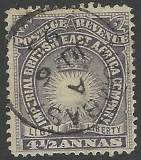 British East Africa QV 1890-95 4 1/2a dull violet SON very fine used SG 11 £21