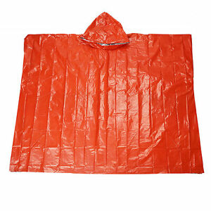 Outdoor Emergency Raincoat Waterproof Thermal Thick Camping Survival Poncho D1R8