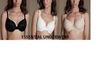NEW BEAUFORME MULTIWAY T-SHIRT BRA PADDED CUPS UNDERWIRE, BLACK WHITE NUDE,