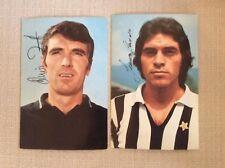 2 CARTOLINE CALCIO ANNI '70 JUVENTUS CAUSIO E ZOFF AUTOGRAFATE