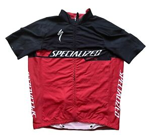 SPECIALIZED SL PRO JERSEY SS MENS XL CYCLING RACING BLACK RED LIGHTLY USED