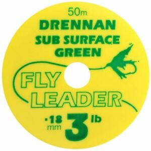 DRENNAN SUBSURFACE GREEN FLY LEADER 50M - FLY FISHING TIPPET