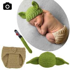 baby yoda crochet costume newborn photography star wars outfits